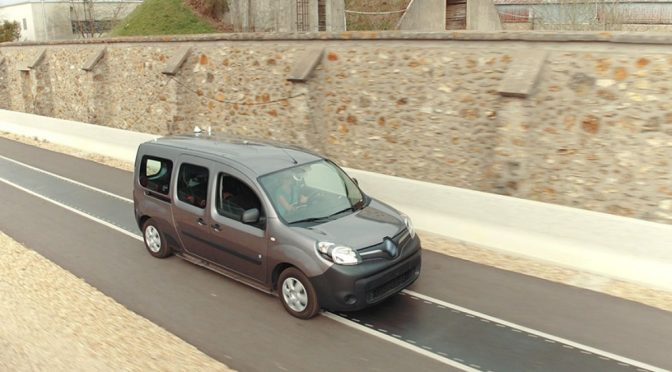 Се гради пат кој ќе ги полни електромобилите во возење