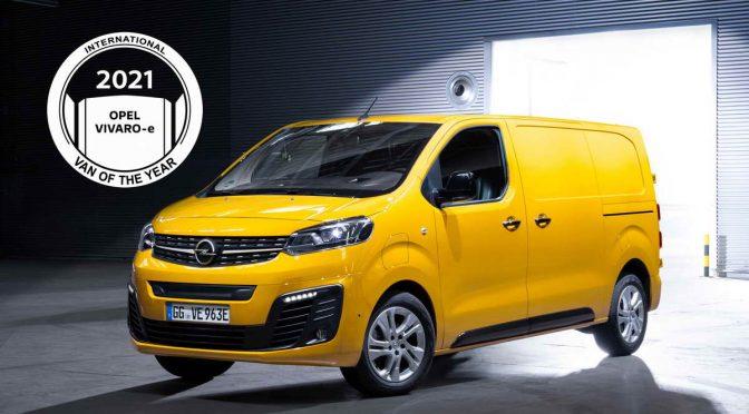 """Opel Vivaro-e се закити со престижната награда """"Интернационално комерцијално возило"""" за 2021-ва"""